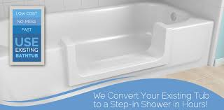 bathtub to stepin shower conversion cutout
