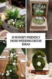 29 budget friendly moss wedding d cor ideas weddingomania