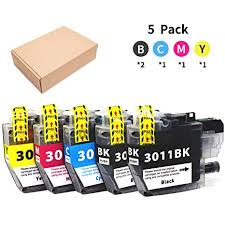 Joyprinting Compatible Brother Lc3011 Lc 3011 3011 Ink Cartridges For Brother Mfc J491dw Mfc J497dw Mfc J690dw Mfc J895dw Printer 5 Pack 2 Black 1