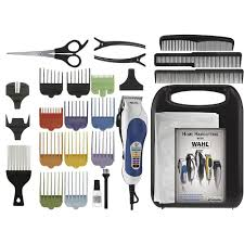 wahl 26 piece color coded haircutting kit