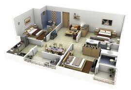 Simple House Design Inside And Outside 3 Bedroom Apartment House Plans