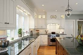 dark green granite with white cabinets cabinet designs