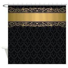 black and white fabric shower curtain bathroom random black white gold shower curtain golden stripe vintage black and white fabric shower curtain