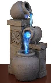 Small Picture Led Fountain Rustic Vase Color Changing Tabletop Waterfall Water