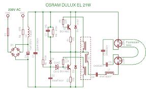 compact fluorescent lamp schema osram dulux el 21w