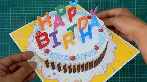 Diy 3d Happy Birthday Cake Card Popup Card Tutorial Latest