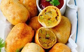 air fryer indian potato bread rolls
