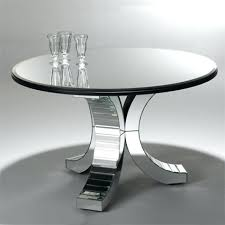round mirror table round mirrored dining table