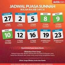 6 amalan bulan rajab : Jadwal Puasa Sunah Bulan Rajab 1441 H