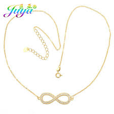 2019 whole fashion women new design infinity pendant necklace gold chain zircon infinity jewelry necklace from herberta 23 4 dhgate com