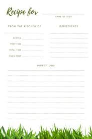 Full Page Recipe Templates Customize 764 Recipe Cards Templates Online Canva