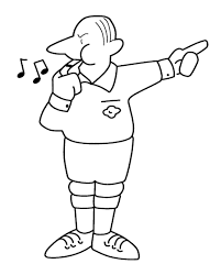 Referee Football Coloring Page