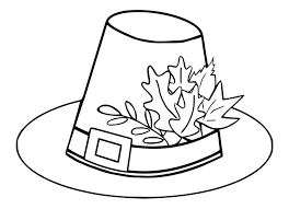 Small Picture pilgrim hat autumn leaves thanksgiving coloring pages 557863