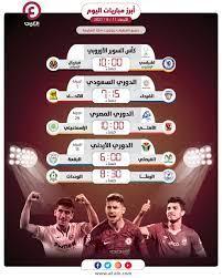 مواعيد مباريات اليوم الأربعاء 11 أغسطس والقنوات الناقلة