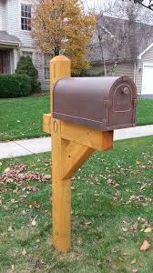 wood mailbox posts. Delighful Posts 4X6 Standard Post Treated Pine  Stain Large Metal Bronze Mailbox Throughout Wood Posts O