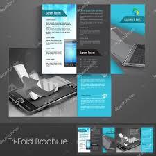 professional business three fold flyer template corporate broch professional business three fold flyer template corporate broch stock vector 25978141
