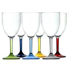 water wine glass coloured base party glasses uk color pastel pastels wine glasses