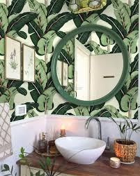 Exotic Banana Leaf Wallpaper Mural ...