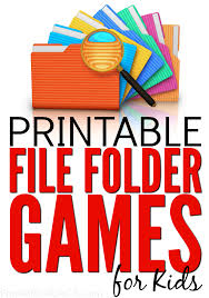 Printable Kids 75 Free Printable File Folder Games For Kids From Abcs To Acts