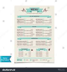 breakfast menu template sample cafe menu template
