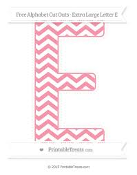 Printable Chevron Letters Free Pastel Pink Chevron Extra Large Capital Letter E Cut
