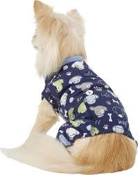 Pup Crew Size Chart Pup Crew Dog Bone Print Dog Pajamas Xx Small