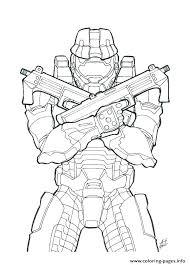 Spartan Coloring Pages Head Halo For Kids Page Vibobchco