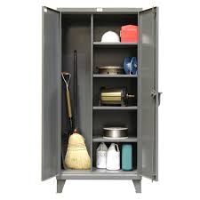 Strong Hold Cabinets Stronghold Broom Closet Cabinets Shelving Inc