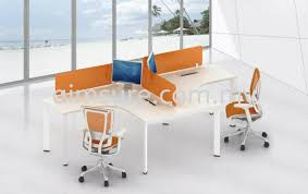 office orange. 2 Cluster L Shape Orange Workstation (AIM Slim Block System). AllOffice Office