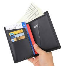 real leather travel wallet family passport holder cover rfid blocking doent organizer case color c3