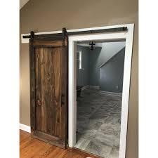good single sliding door panel rustic barn by luxe track wardrobe kit revit quadrant shower enclosure