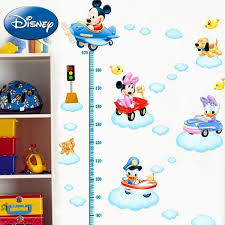 Disney Mickey Friends Driving Cars Growth Chart Wall Decal