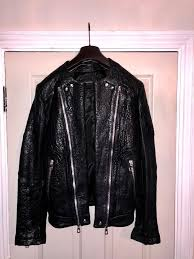 balmain x h m leather biker jacket sold out collection