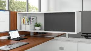 office storage solution. Duo Overhead Storage Provides An Office Solution For Post And Beam Without Hindering Sight Lines Between Individuals In Adjacent