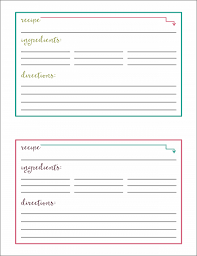 Free Printable Recipe Cards Abby Lawson
