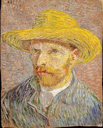 vincent van gogh self portrait a straw hat obverse the share by email