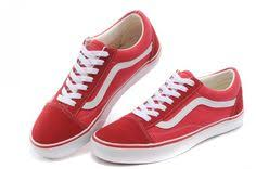 vans shoes red and white. vans shoes red white original old skool unisex low and