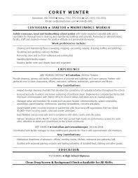 Sample Maintenance Resume Maintenance Manager Resume Sample Top ...