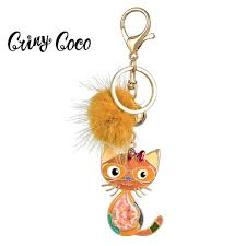 <b>Cring Coco</b> Cute Anime Cat Keychain For Women Men Kids ...