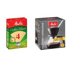 Melitta cone filters micro fine perforations allow coffee's full flavor to filter through as it traps bitter grounds and sediments. Melitta 4 Cone Coffee Filters Natural Brown 100 Count Pack Of 6 Pour Over Coffee Brewer W Glass Carafe 6 Cups 6 Ozper Cup Amazon Com Grocery Gourmet Food