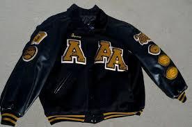 6xl a high school wool letterman varsity jacket black gold baseball football