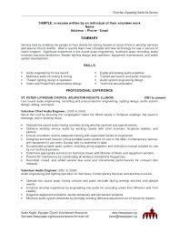 Volunteer Resume Template Resume Sample Source