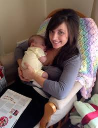 Girls with breast milk