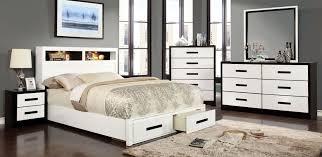 blacks furniture. Rutger White And Black Platform Storage Bedroom Set. Furniture Of America Blacks P