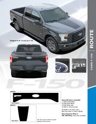 2016 Ford Truck Decals Route Side Hood Kit 2015 2017 3m Standard Wet Install