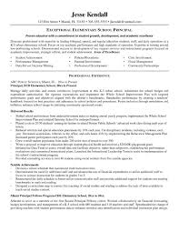 Extraordinary Sample Resume Principal Position About School