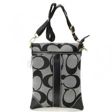 Coach Legacy Swingpack In Signature Small Grey Crossbody Bags AVE