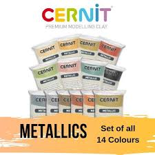 Cernit Color Chart Cernit Metallic Polymer Clay Set Of All 14 Colours X 56g