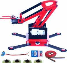 nasa tech servo arduino compatible robotic arm 4 servo motors nasa tech complete robotic arm 4 motor 4 switch 9v battery 9v