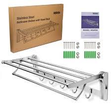 stainless steel bathroom shelves. REIDEA Foldable Bathroom Shelf And Towel Racks Stainless Steel Shelves R